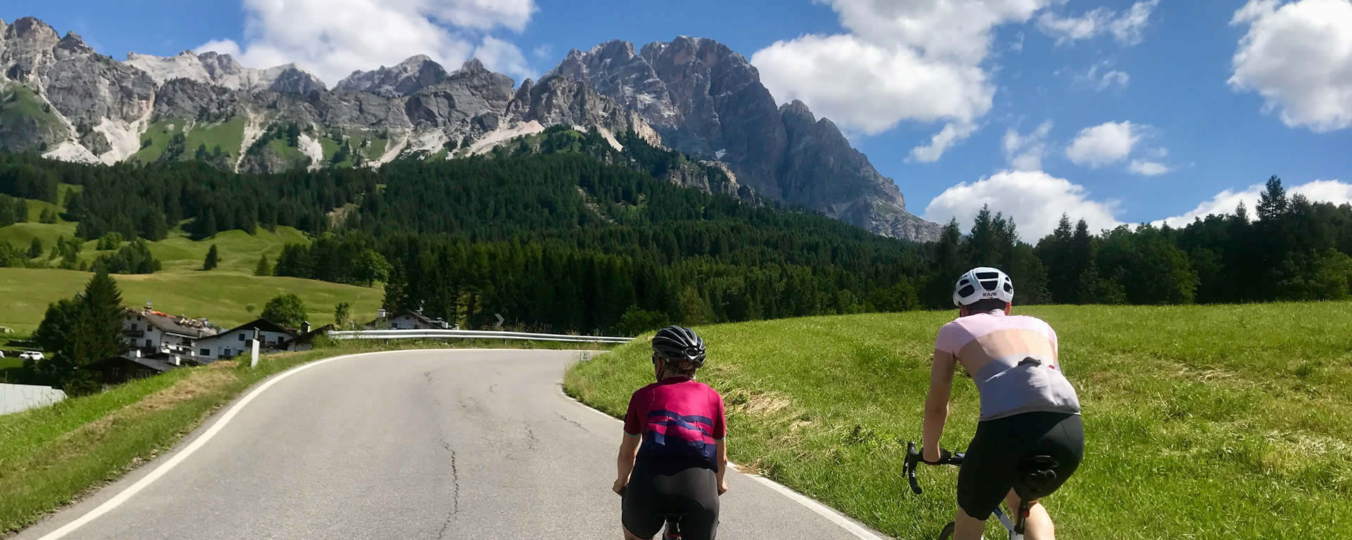 Climbing in the Dolomites above Cortina
