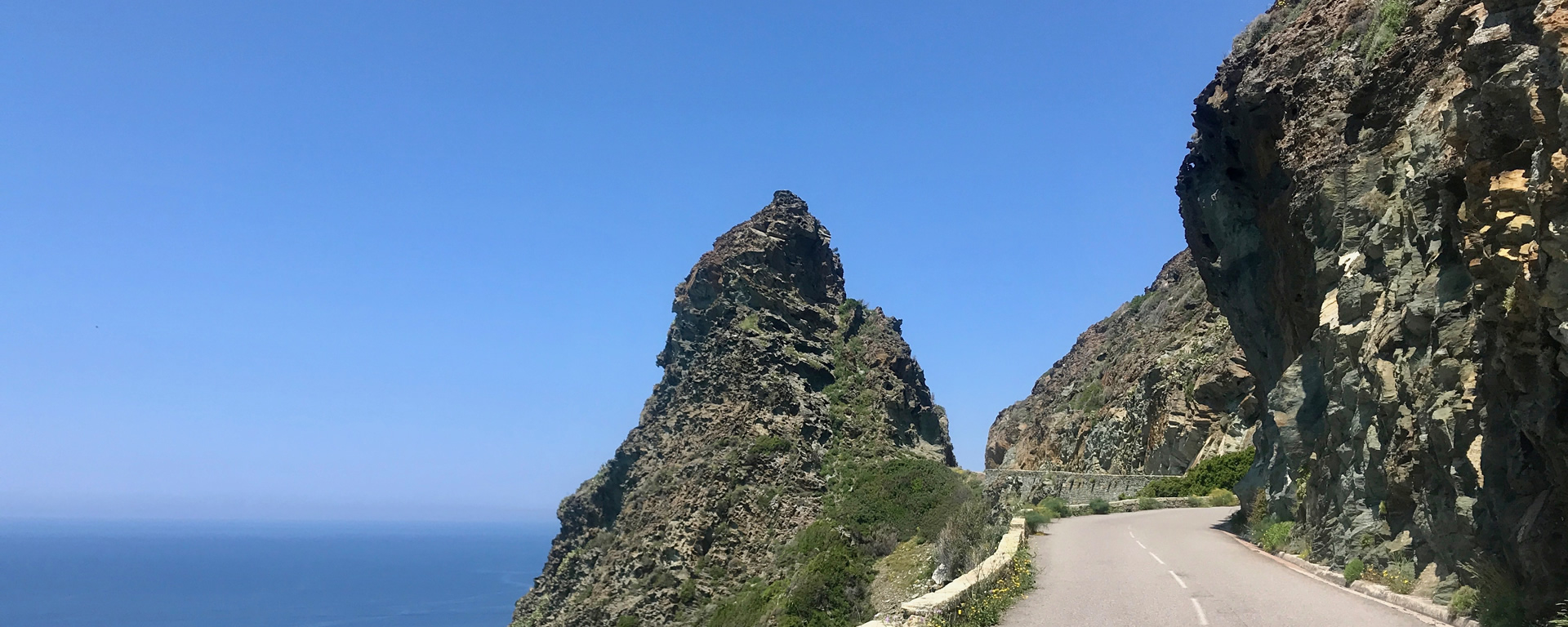 The superb roads around Cap Corsica