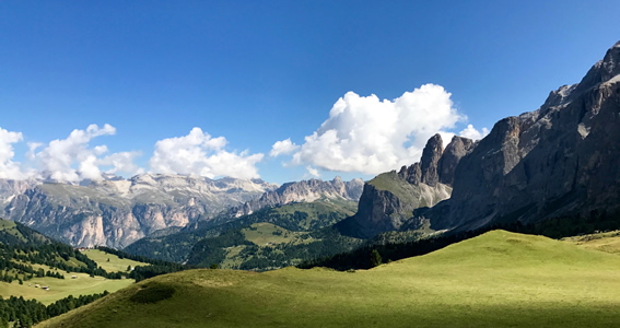 A perfect view from the Passo Gardena