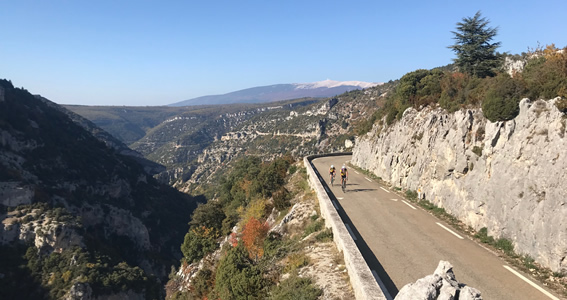 The climb through the stunning Gorges de la Nesque