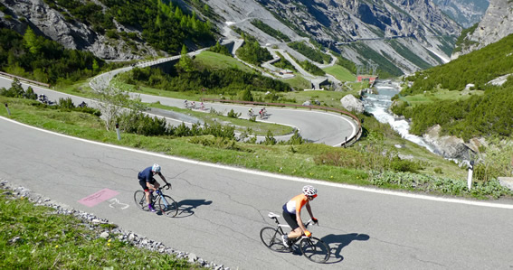 Richard cycling Stelvio pass from Bormio