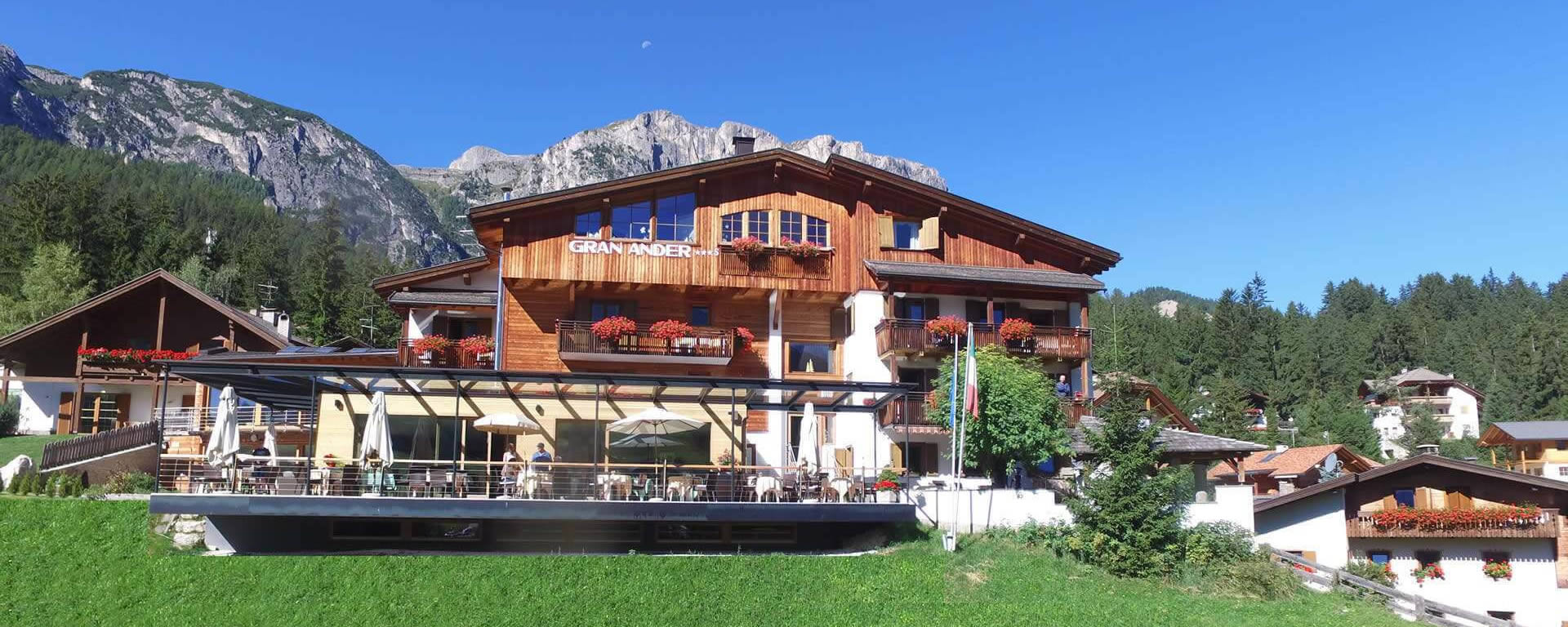 The hotel in our Ultimate Dolomites Trip