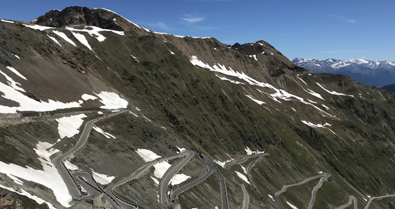 The final Stelvio classic hairpins