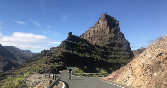 Laura cycles through the VOTT in Gran Canaria