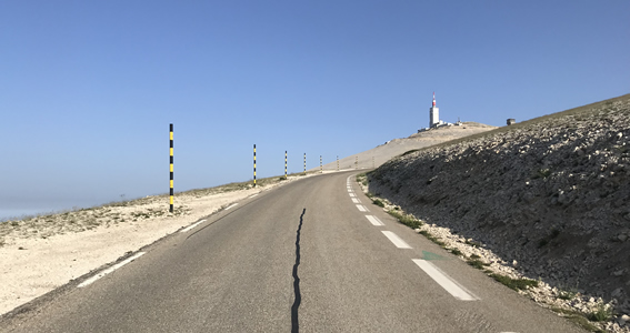 The summit of Mont Ventoux