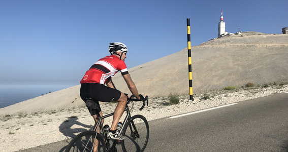 Finally the summit of Mont Ventoux