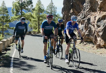 Riding with a great group in Gran Canaria