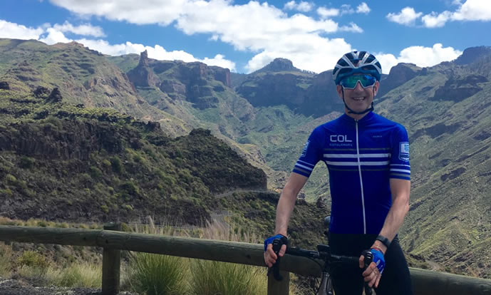 Rob enjoying the cycling in Gran Canaria