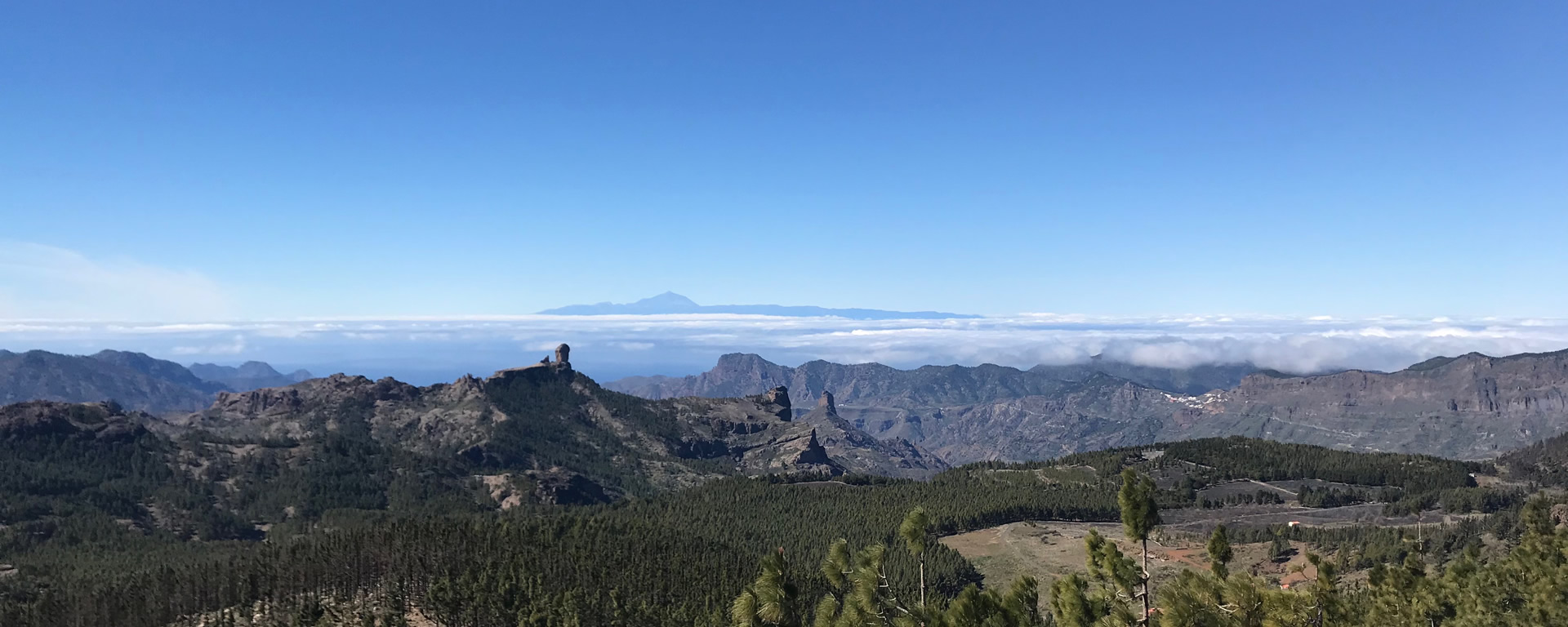 Gran Canaria panorama with our team