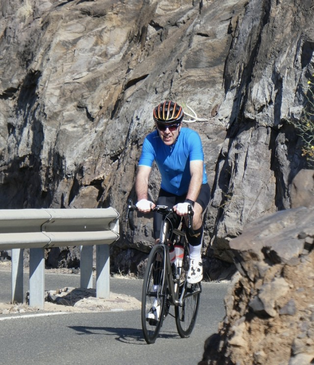 Trevor better than ever cycling in Gran Canaria